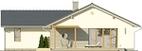 Projekt domu Kalambur - elewacja tylna