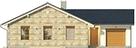 Projekt domu Euforia - elewacja przednia