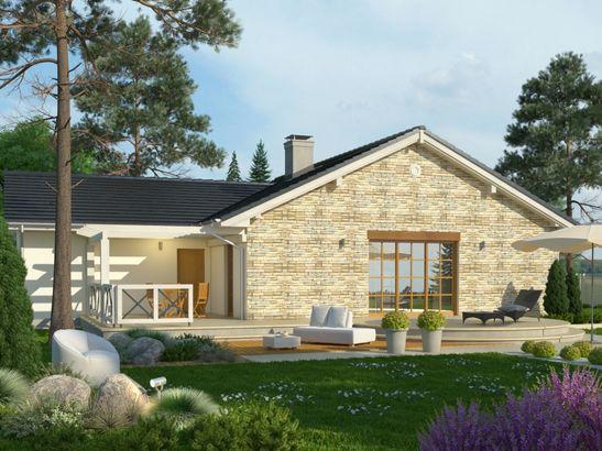 Projekt domu Euforia - widok 2