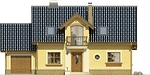 Projekt domu Granat - elewacja przednia
