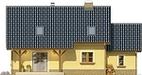Projekt domu Granat - elewacja tylna