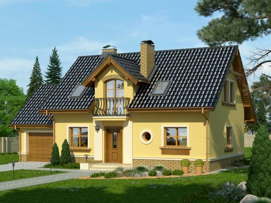 Projekt domu Granat - widok 1