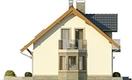 Projekt domu Aroma 2 - elewacja boczna 1