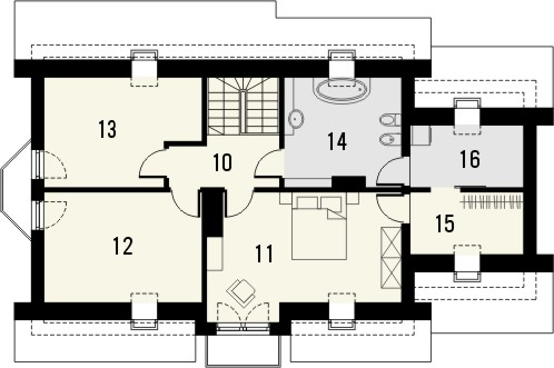 Projekt domu Aroma 2 - rzut poddasza