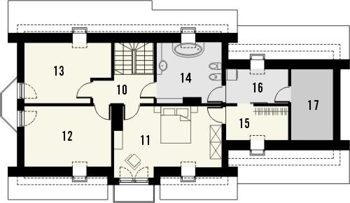 Projekt domu Aroma 2 2G - rzut poddasza
