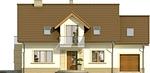 Projekt domu Enklawa 2 - elewacja przednia