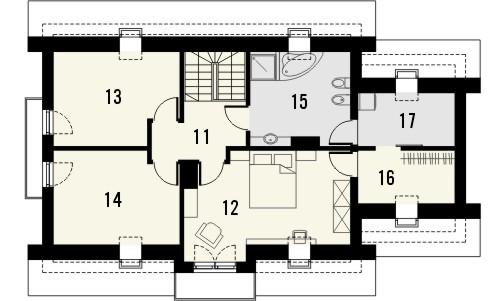 Projekt domu Enklawa 2 - rzut poddasza