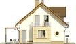 Projekt domu Enklawa 2 2G - elewacja boczna 1