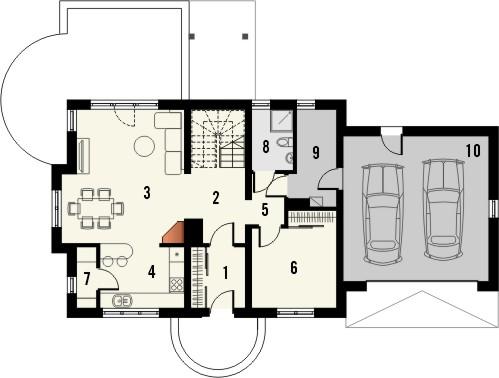 Projekt domu Enklawa 2 2G - rzut parteru