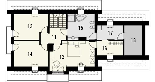 Projekt domu Enklawa 2 2G - rzut poddasza