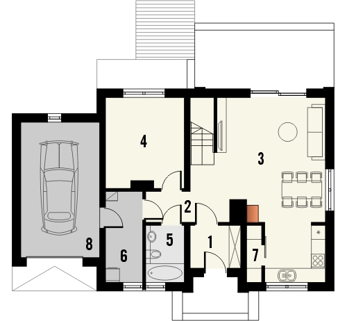 Projekt domu Estyma 2 - rzut parteru