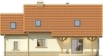 Projekt domu Granat 2 - elewacja tylna