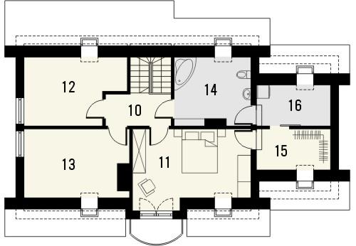 Projekt domu Granat 2 - rzut poddasza