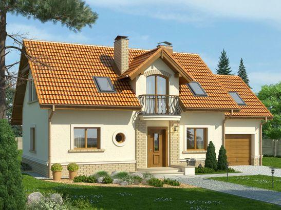 Projekt domu Granat 2 - widok 1