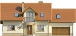 Projekt domu Granat 2 2G - elewacja przednia