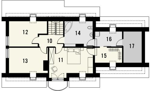 Projekt domu Granat 2 2G - rzut poddasza