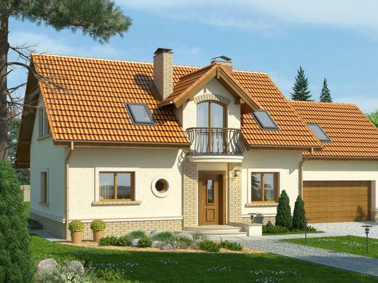 Projekt domu Granat 2 2G - widok 1
