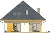 Projekt domu Eden 2 - elewacja tylna