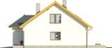 Projekt domu Omega 2 - elewacja boczna 1
