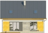 Projekt domu Omega 2 - elewacja tylna