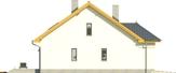 Projekt domu Omega 2 - elewacja boczna 2