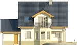 Projekt domu Lira 3 - elewacja tylna