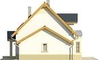 Projekt domu Lira 3 - elewacja boczna 2