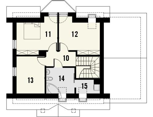 Projekt domu Lira 3 - rzut poddasza