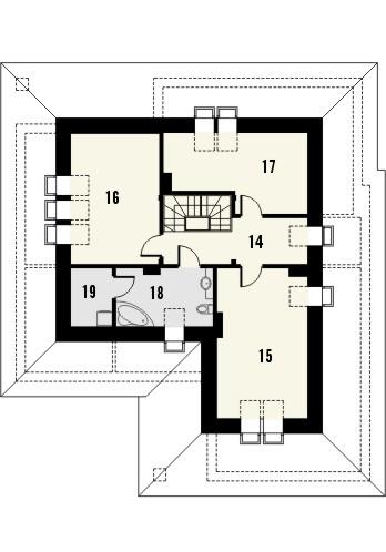 Projekt domu Melodia 2 - rzut poddasza