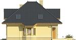 Projekt domu Mokka 2 - elewacja boczna 1