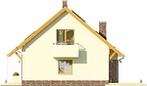 Projekt domu Wasabi - elewacja boczna 1