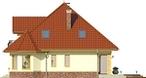 Projekt domu Viva 2 - elewacja boczna 1