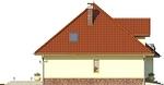 Projekt domu Viva 2 - elewacja boczna 2