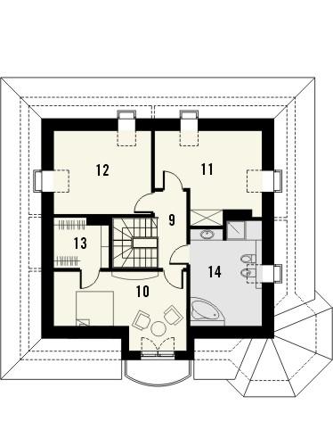 Projekt domu Viva 2 - rzut poddasza