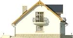 Projekt domu Nowela 3 - elewacja boczna 1