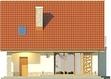Projekt domu Bella 4 - elewacja tylna