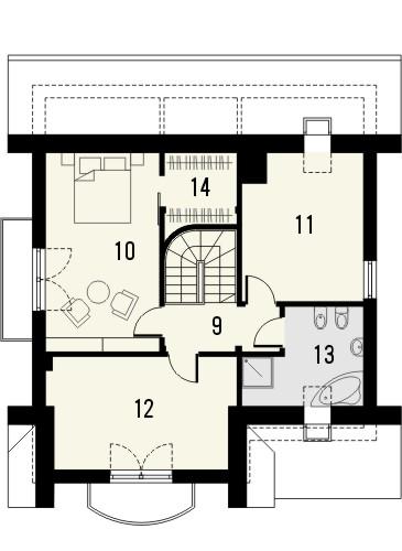 Projekt domu Bella 4 - rzut poddasza