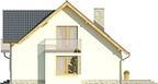 Projekt domu Bella 5 - elewacja boczna 1