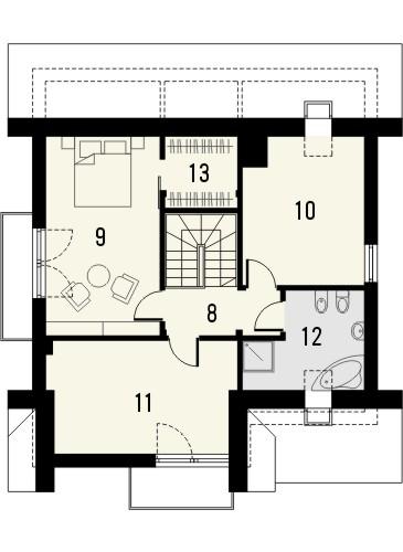 Projekt domu Bella 6 - rzut poddasza