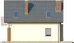 Projekt domu Tarot 2  - elewacja boczna 2