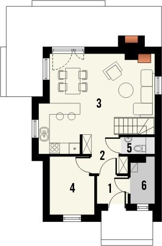 Projekt domu Tarot 2  - rzut parteru