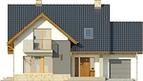 Projekt domu Laguna 2 - elewacja przednia