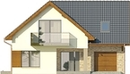 Projekt domu Guarana 2 - elewacja przednia