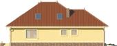 Projekt domu Verona 2 - elewacja boczna 2