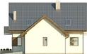 Projekt domu Rozalin 2 - elewacja boczna 2