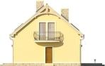 Projekt domu Cekin - elewacja boczna 2