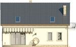 Projekt domu Cekin 2 - elewacja tylna