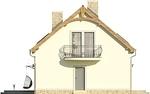 Projekt domu Cekin 2 - elewacja boczna 2