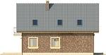 Projekt domu Adorator - elewacja boczna 1