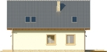 Projekt domu Galena - elewacja boczna 1